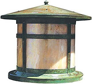 Arroyo Craftsman BC-11CS-RB Berkeley Column Mount Light Fixture, 11