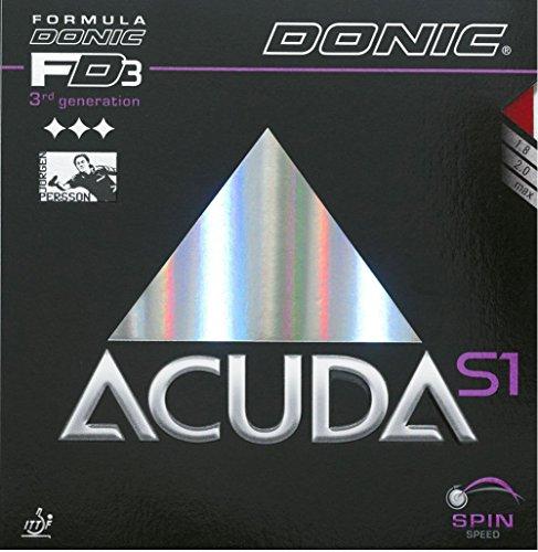 Tenis de mesa goma Donic Acuda S1, 2.00mm), color rojo