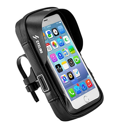 WYIYI Bike Mobiele Telefoon Beugel Stuurtas, EVA Waterdichte Zonnescherm Duurzaam Touch Screen met Hoofdtelefoon Gat Bike Bovenste Buiszak 6.0 Inch
