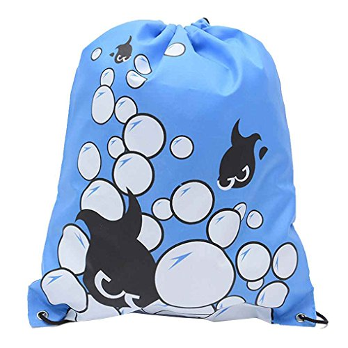 Qimao Swimming Drawstring Beach Bag Sport Gym Waterproof Backpack Duffle Smile Backpack Bag