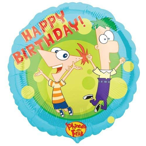 """Phineas and Ferb 18"""" Happy Birthday Mylar Balloon Party Supplies"""