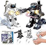 HLKJ Somatosensorische Ferngesteuerte Kampfroboter, 2.4g Rc Titans Kampfroboter, Ferngesteuerter Kampfboxroboter, Erstaunliches Roboterspielzeug FüR Kinder Und Eltern Geschenk (Weiß+Schwarz)