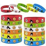 24pcs Bracelets for Dragon-Ball Theme Birthday Party Favors Wristband Supplies-Kids Size