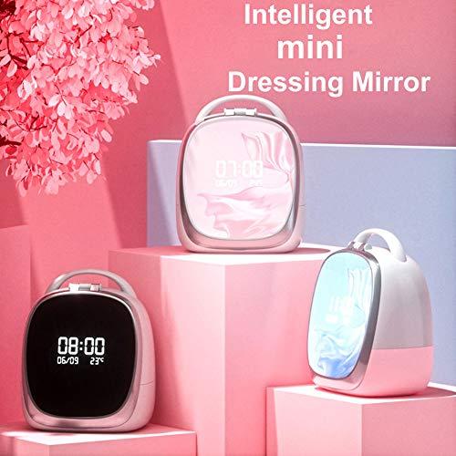Mini Schminktisch, Kosmetikspiegel mit Lichtern, Dimmbar Make Up LED Licht, Tragbare Lampe,...