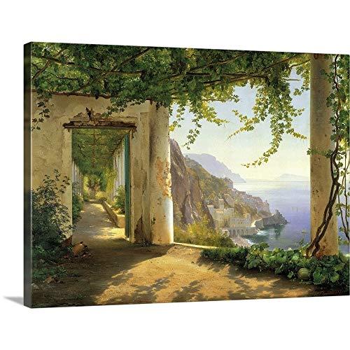 "View to The Amalfi Coast Canvas Wall Art Print, 24""x18""x1.25"""