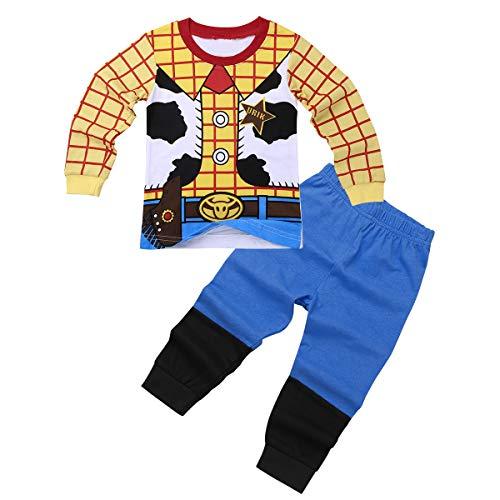 iiniim Conjuntos Pijama Niño Top y Pantalones Ropa de Dormir Algodón Ropa Interio rpara Niños Chicos (18 Meses a 8 Años) Amarillo 7-8 años