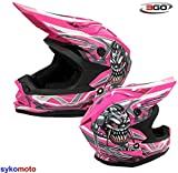 3GO X10-K GRAPHIC MOTOCROSS KIDS QUAD ATV DIRT ENDURO BAMBINI OFFROAD BMX MTB CASCO ROSA