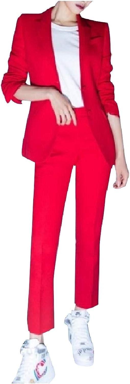 Zimase Women's Vogue BF Style Blazer Stage Clothing 2Piece Suits Set