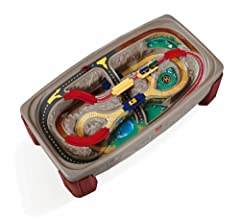 One-piece hardboard lid with one white side converts unit into activity table and blends with any décor Deep tray helps keep accessories organized and provides storage when not in use Includes a 3-piece train set (accessories may vary) Sturdy, durabl...