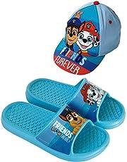 Paw Patrol flip-flops voor strand of zwembad + Paw Patrol pet voor kinderen