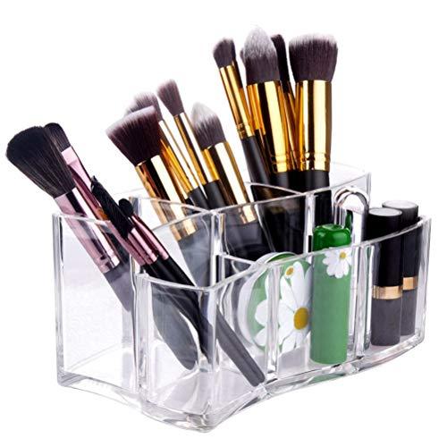 Porte-pinceau de maquillage, Porte-organisateur de pinceau de maquillage en acrylique, étui de boîte de rangement pour pinceaux de maquillage pour pinceaux de maquillage, cosmétiques, brosse à dents