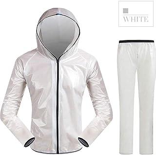 OUTFE Cycling Rain Suit Lightweight, Men's Waterproof Jacket & Trouser Set Raincoat, High Visibility Waterproof Lightweigh...