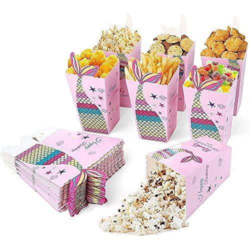 Caramelos de Cartón, 36Pcs Palomitas Bolsa, Contenedores para el Regalo de Cartón, Caja de Palomitas de Maíz, para Navidad, Bocadillos o Palomitas de Maíz, Fiesta de Cumpleaños, Boda (Rosa)