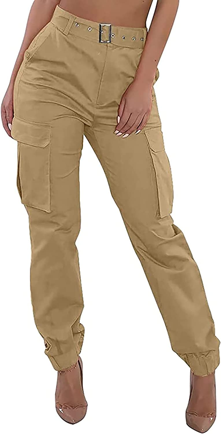 Classic Misaky Women Cargo Pants Casual Loose Waist Jogger High Excellence Ou