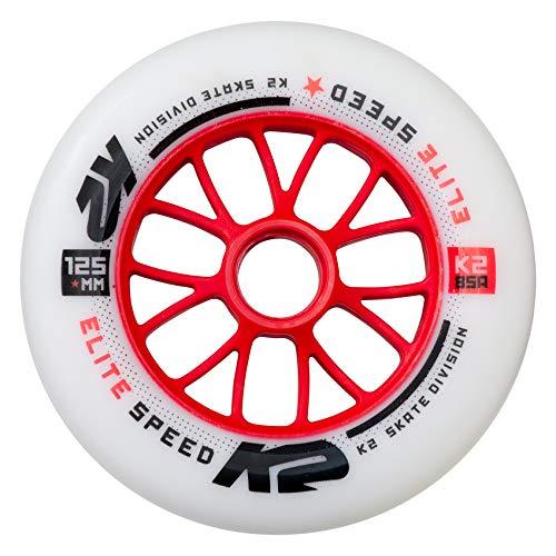 K2 Inline Skates Rollen 125 mm Elite Wheel Each Ersatzrollen - Weiß - 1 Rolle - 30B3014.1.1.1SIZ