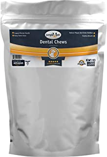 Jungle Pet Enzymatic Dental Chews for Large Breed Dogs - Freshen Breath - Rawhide - FIGHT PLAQUE, TARTAR, CALCULUS