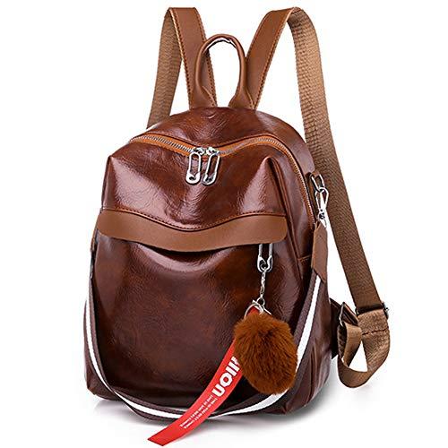 Donykarry modischer Damen-Rucksack, Schultasche, Damen, modisch, wasserdicht, aus Leder