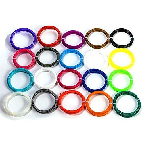 10 Meters ABS Filament 1.75mm 3D Printer Materials 3D Pen Filament For 3D Printer Pen Doodler Drawing (20 Colors) 0904 (Color : 1)