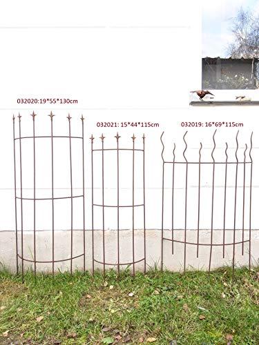 Zen Man Edelrost Garten Rankhilfe aus Metall Rost Ranksäule Edelrost Metall Rosenbogen (032019: 16.5 * 69*H115cm)