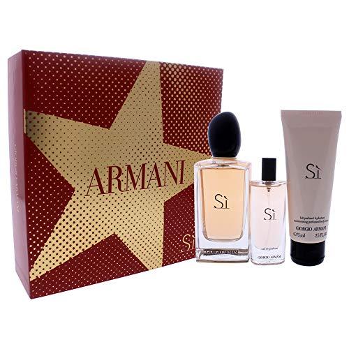 Giorgio Armani Si Set 100ml Eau de Parfum + 15ml Eau de Parfum + 75ml Body Lotion