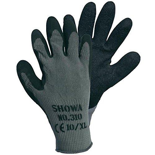 10 Paar - SHOWA Grip-Arbeitshandschuhe 310 schwarz, Größe 7