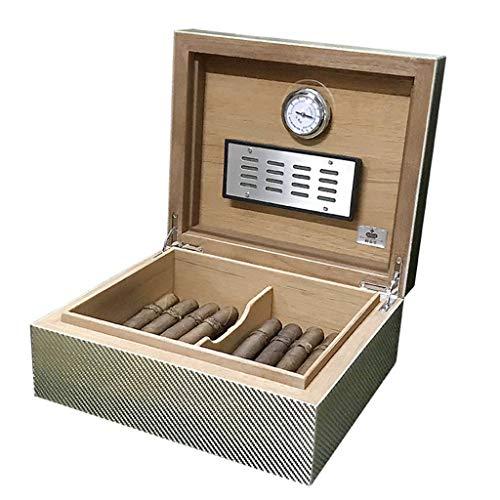 Rangements Humidificateurs À Cigares Boîte À Cigares Grande Capacité 50 Boîtes De Rangement Pour Cigares Humidificateur Cedarwood Equipé D'un Humidificateur Et D'un Thermomètre