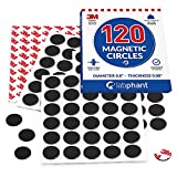 Best Magnetic Tapes - Round Magnets with Adhesive Backing, 120 Pieces Magnet Review