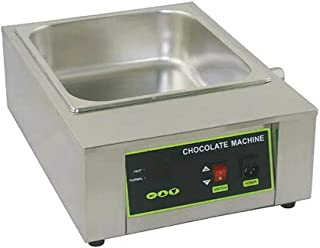 GUANG Commercial Chocolate Melting Machine, 1000W Stainless Steel Electric Chocolate Tempering Heater Melter Pot for Bakery Cafe 18kg Capacity