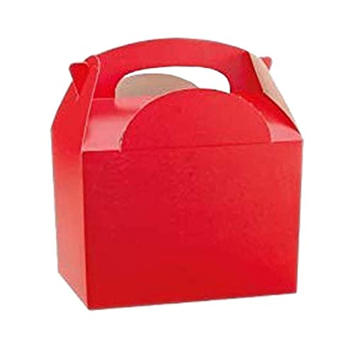 RED STRIPE Kids Party Lunch Boxes Birthday Box Wedding Food Bag Meal Carry Gift