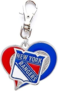 Heavens Jewelry NY New York Rangers Hockey Charm ADD to Zipper Pull PET Dog CAT Collar TAG Leash ETC