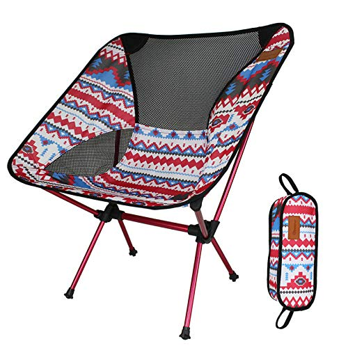 Generies Silla de camping plegable para exteriores, de aluminio, ligera, con bolsa de almacenamiento, para pesca al aire libre, camping, barbacoa, senderismo, hasta 200 libras), A