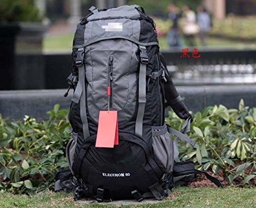 Sport di 60L outdoor alpinismo borsa viaggio spalla sacchi bulk con copertura antipioggia , black