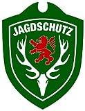 Waidmannsbruecke Unisex– Erwachsene Jagdschutz Hessen Autoschild, Grün, One Size
