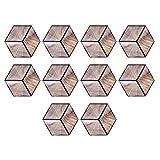 TAKE FANS Adesivi per Pavimenti - Adesivi per Piastrelle in Ceramica a Grana Esagonale Imitazione Legno Adesivi per Pavimenti Antiscivolo Impermeabili