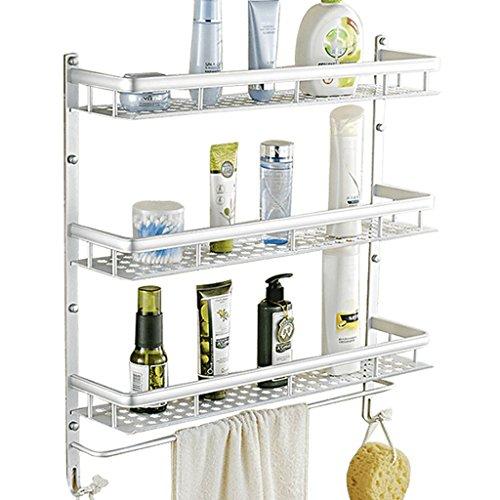 Space Aluminium Racks de salle de bain à trois couches/salle de bains (taille : 50cm)
