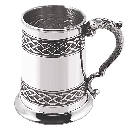 English Pewter Company CEL621 - Boccale in Peltro con Nodo Celtico in Rilievo, 1 Pinta