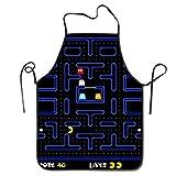 Juego de arcade retro con diseño de video antiguo, delantales de ataque enojado para hombres, mujeres, chef, cocina, cocina, parrilla, delantal, babero, con correa ajustable para el cuello, regalos pe