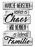 Bada Bing Planken Schild Familie Chaos 29 x 20 Wandschild