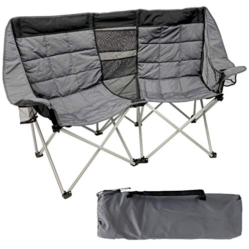 EasyGo Product Camping Chair for 2 People and its carry bag.