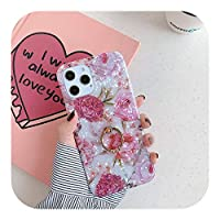 Yokkg ドリームシェルリングホルダー電話ケースFor iPhone12 Pro 11 Pro Max XR XS Max X 7 8 Plus SE 2 11Pro 12Mini Vintage Flower Back Cover-T3-For iPhone 11