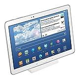 kwmobile Tablet Micro-USB Dockingstation - mit Rutschfester Unterseite - Tablet PC Micro USB Docking Station Ladegerät in Weiß