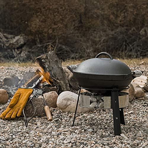 Multifunktional Feuerschalen Edelstahl-Grill Im Freien Haushaltskombination Wilde KüChe FüR Backyard Poolside Campfire Grill