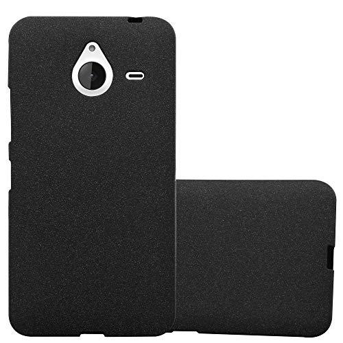 Cadorabo Custodia per Nokia Lumia 640 XL in Frost Nero - Morbida Cover Protettiva Sottile di Silicone TPU con Bordo Protezione - Ultra Slim Case Antiurto Gel Back Bumper Guscio