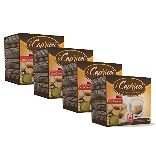 Bonini iCapricci Nespresso Kakao Kapseln - 40 Latte Caramel Schokolade Kapseln, Nespresso kompatibel von Bonini
