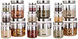 Get ample of storage capacity with a set of 15 jars - 3 each in the sizes of 1500ml, 1200ml, 450 ml, 200ml, 50ml Made from high-quality PET, Grade 1 food grade plastic and 100% free from the harmful impacts of BPA (Bisphenol A) Preserves the freshnes...