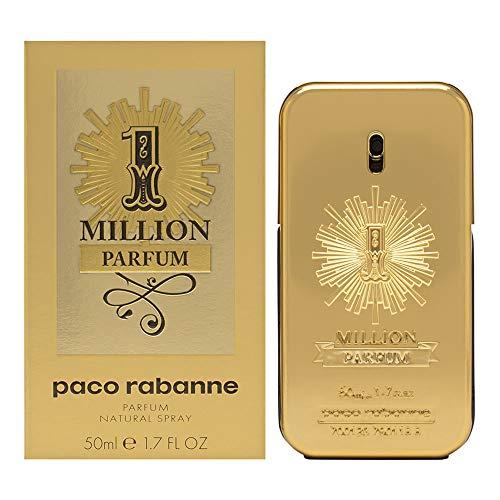 Paco Rabanne 1 Million Parfum 50ML VAPORIZADOR Unisex Adulto, AMARILLO, Estándar