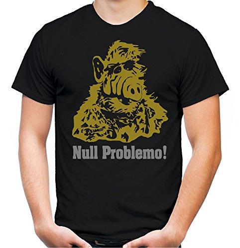Alf Männer und Herren T-Shirt | Vintage Kleidung Outfit Geschenk | M1 (XL, Schwarz)