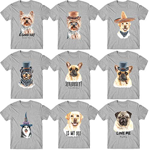 The Multi Dogs Funny Logos T-Shirt Brot Lustige Tiere Unisex Kinder Geschenk Tee Top Gr. M/7-8 Jahre, Sport Grau/Beagle Hund