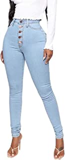 Womens Skinny Jeans Jeans High Waisted Stylish Denim Pants