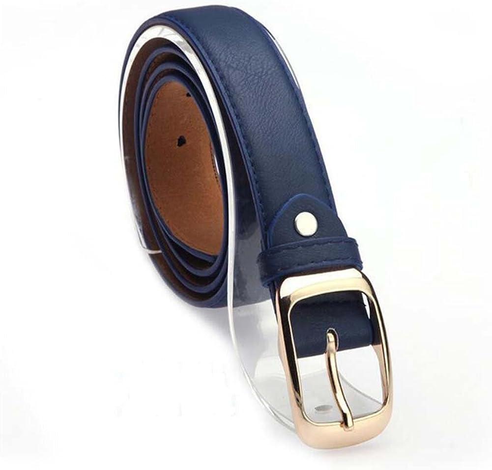 Elwow Mujer Piel Cinturones de cintura con hebilla de chapado en, cintura ajustable correas de cuero Jeans cinturón